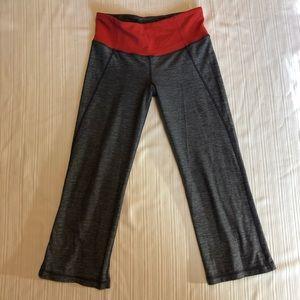 Lululemon grey and coral crop pants